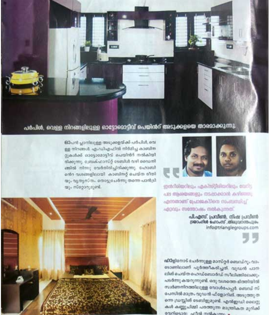 Modular kitchen and Master Bed