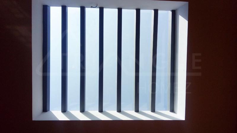 Internal skylight GI pergola