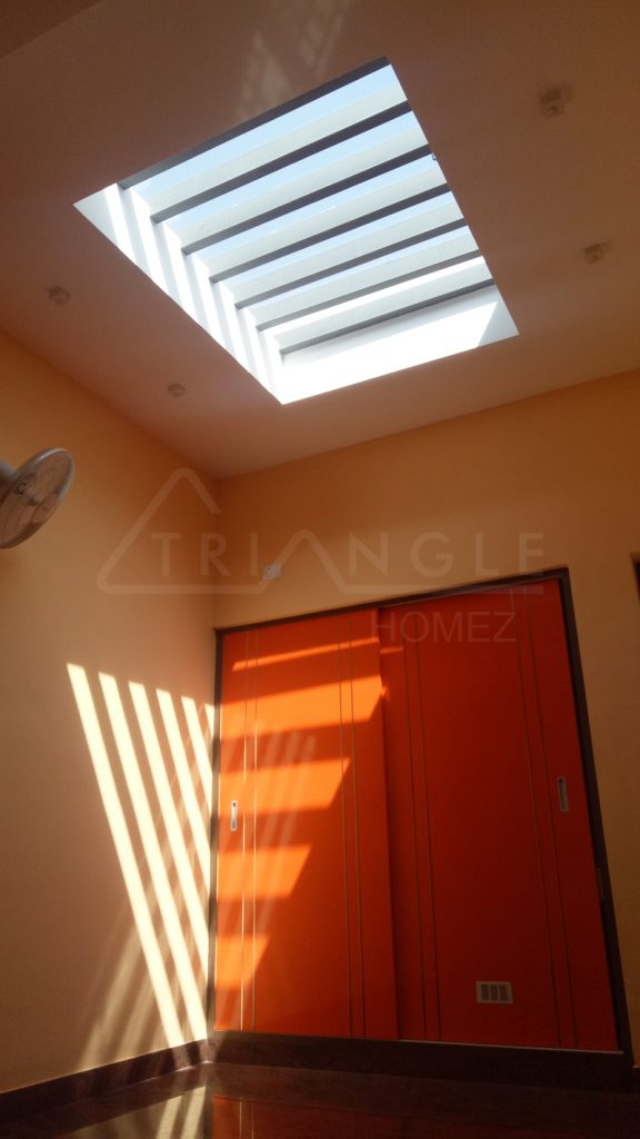 Internal skylight GI pergola with shadowlight