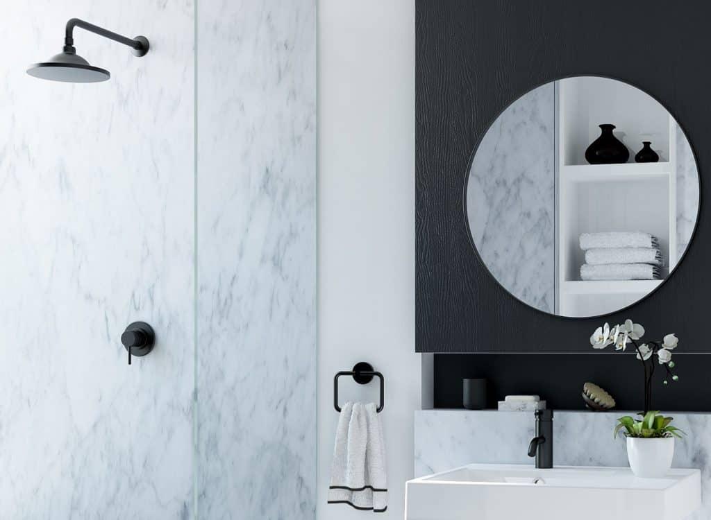 Black Themed Bathroom designs
